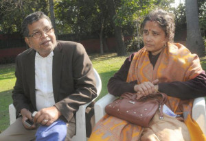 Monotosh and Shikha Chakravarty after meeting President Pratibha Patil ...