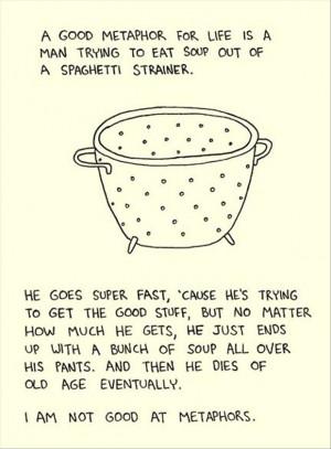 funny metaphors