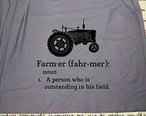 ... Farm Scarf - Tractor - Definition of Farmer Quote - Red or Gray Farm