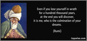 Even if you lose yourself in wrath for a hundred thousand years, at ...