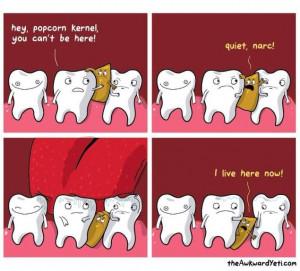 Dental humor dentist dental assistantLaugh, Eating Popcorn, True ...