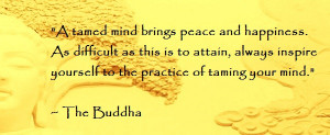 Buddha Quotes on Karma Buddha Quote a Tamed Mind
