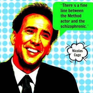 Movie Actor Quote - Nicolas Cage - Film Actor Quote #nicolascage ...