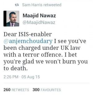 Nice one by Maajid Nawaz, BOOM! - http://holesinthefoam.us ...