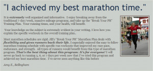 ... marathon time and finish faster? Then a New York marathon training