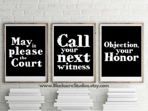 Famous Legal Quotes Print Set - Gift Pack - Lawyer - Court Reporter ...
