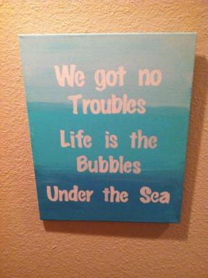 ... nursery art I made for Haisley @chelseabuol ! Little mermaid quotes