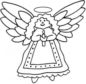 Christmas Angel Clipart Black And Whitechristmas Tree Angel Clipart ...