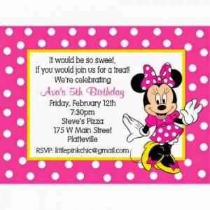 ... minnie mouse birthday invitations birthday minnie mouse invitation