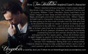 How Tom Hiddleston inspired my character, William
