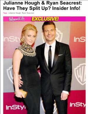 Ryan Seacrest & Julianne Hough Splitting?