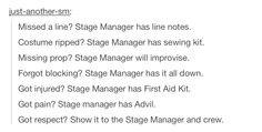 Stage Crew Quotes