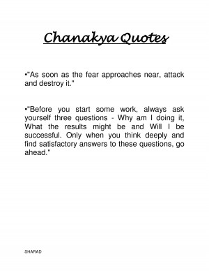 Chanakya Quotes by sharadkgupta