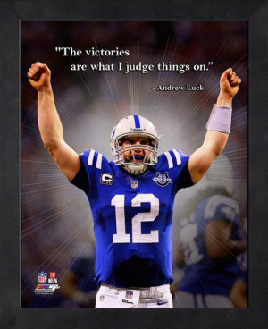Quarterback Andrew Luck Colts