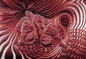 "Judy Chicago's Birth Tear/Tear, part of the artist's ""Birth ..."