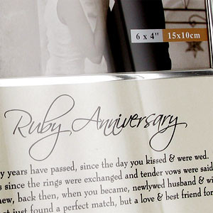 Home Anniversary Gifts Ruby Wedding Gifts 40th Anniversary 40th Ruby ...