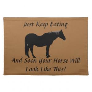 Diet Encouragement Horse MoJo Placemats