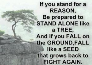 Standing alone.....