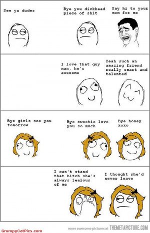 How Boys Behave In Friendships Vs How Girls Do Funny Meme Comics ...