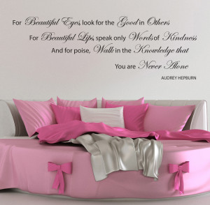 Details about AUDREY HEPBURN WALL STICKERS QUOTES BEAUTIFUL EYE DECALS ...