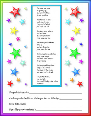 Graduation Poems For Preschoolers