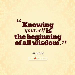 Aristotle knowing yourself quote