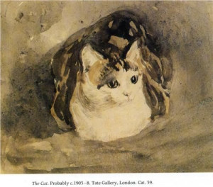 The Cat - Gwen John, 1908 Tate Britain, London: Art Cats, Animal ...