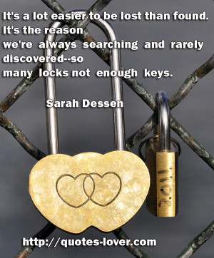 Topics: Lock-and-key Picture Quotes