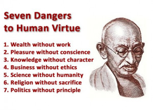 friday quotes : seven dangers to human virtue