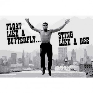 Muhammad ali- float like a butterfly poster