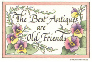 ... Quote Collections :: Friendship :: #113 Best antiques- old friends