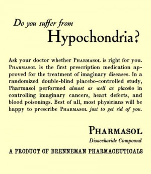 Hypochondriac humor. Do you suffer from hypochondria? A new cure for ...
