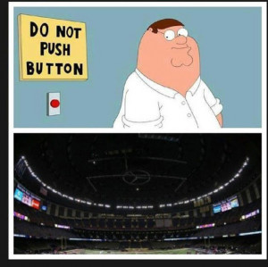 funny super bowl pictures, power outage