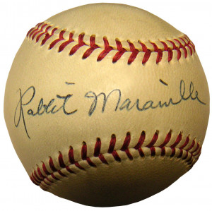 Rabbit Maranville Signed Baseball