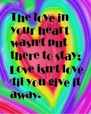 Love quote via Hippie Peace Freaks on Facebook | Love quotes