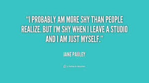 Shy Person Quotes