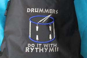 Drum Line Drawstring Bags with Cool Sayings, Drummers Do it with ...