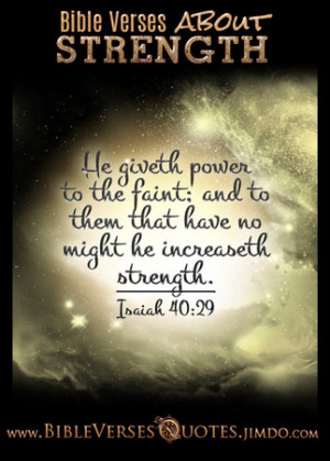 Bible Verses about Strength