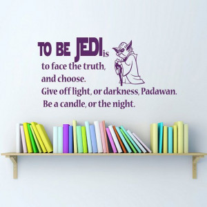 Be Jedi Star Wars Quote Wall Decals Quotes - Wall Vinyl Decal Stars ...