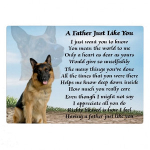 German Shepherd Dog Father Poem Plaque