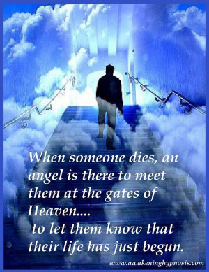 When someone dies.....