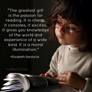 the gift of literacy... #readersdelight