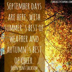 September days... More