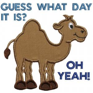 Hump Day Camel Applique Design