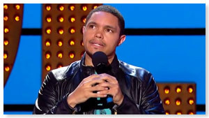 Trevor Noah is a comedian from South Africa. His mom is black, and his ...