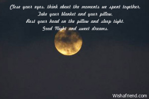 Cute Goodnight Quotes For Your Boyfriend