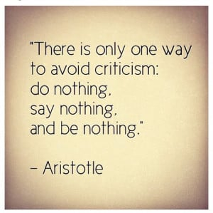 Cynical people will always criticize