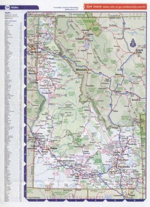 Detailed Idaho Road Map