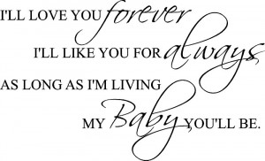 always and forever i love you baby forever quotes