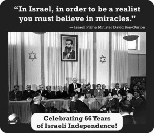 In Israel, in order to be a realist you must believe in miracles.